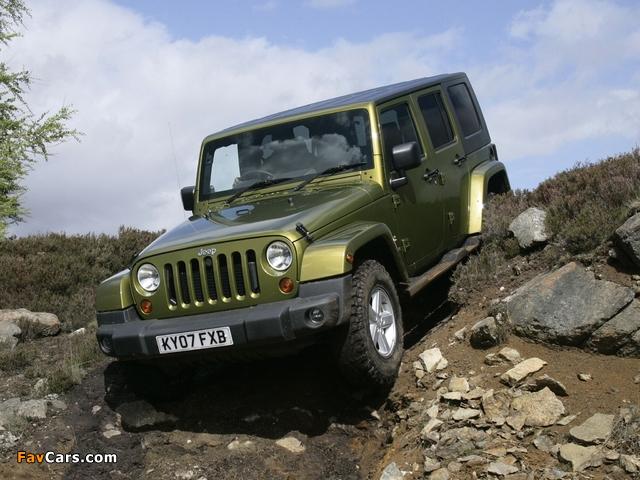 Pictures of Jeep Wrangler Unlimited Sahara UK-spec (JK) 2007–11 (640 x 480)