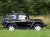 Pictures of Jeep Wrangler Sport UK-spec (JK) 2007