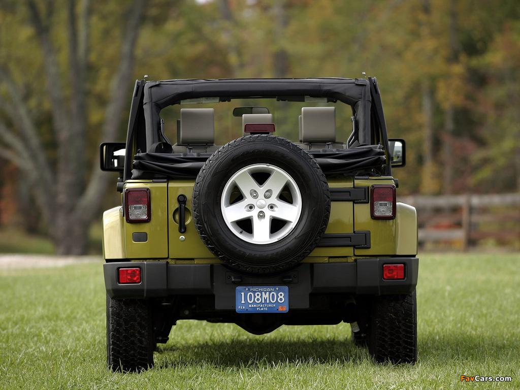 Pictures of Jeep Wrangler Unlimited Sahara EU-spec (JK) 2007 (1024 x 768)
