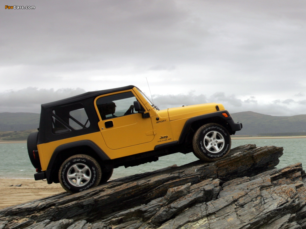 Jeep Wrangler Sport UK-spec (TJ) 1997–2006 wallpapers (1024 x 768)
