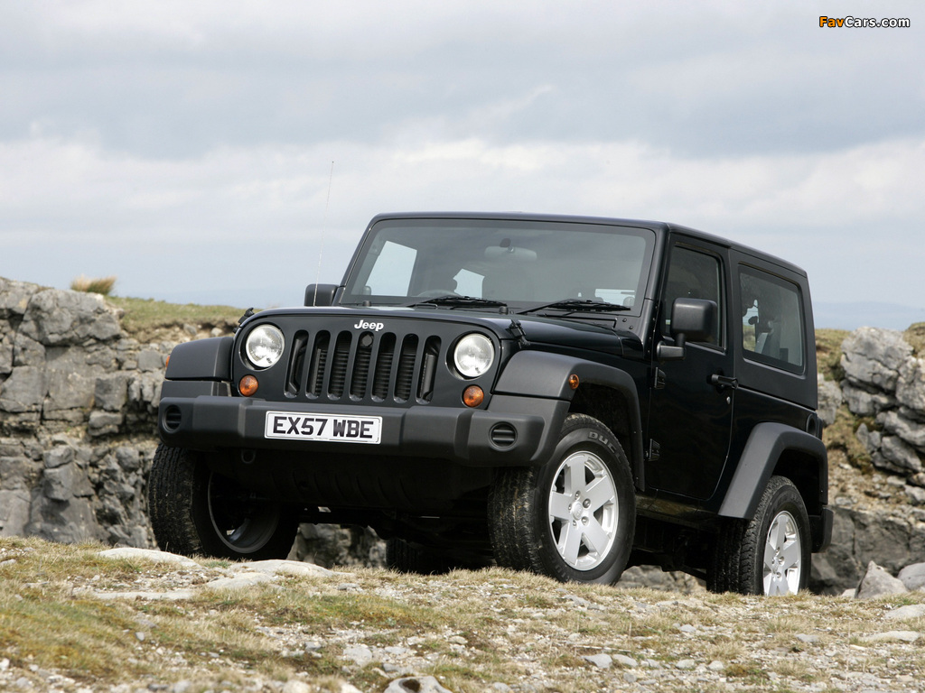 Jeep Wrangler Sport UK-spec (JK) 2007 wallpapers (1024 x 768)