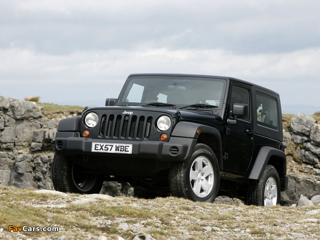 Jeep Wrangler Sport UK-spec (JK) 2007 wallpapers (640 x 480)