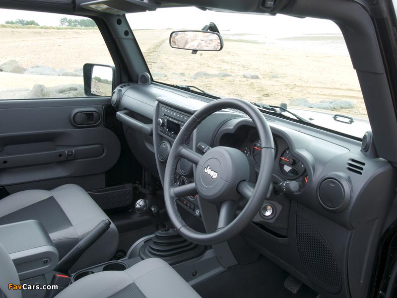 Jeep Wrangler Sport UK-spec (JK) 2007 wallpapers (800 x 600)