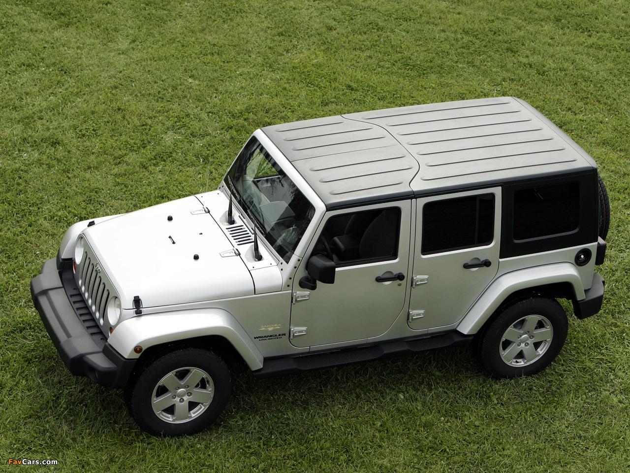 Jeep Wrangler Unlimited Sahara EU-spec (JK) 2007 wallpapers (1280 x 960)