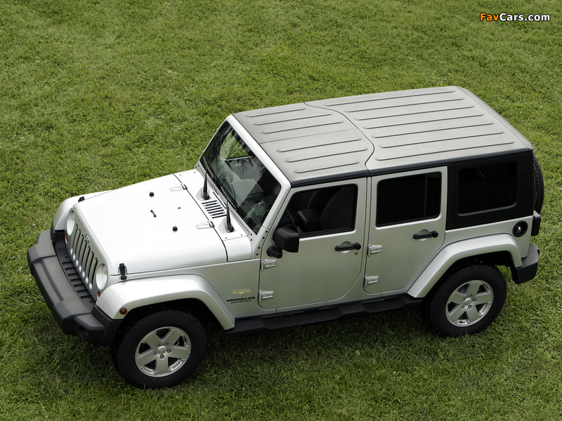 Jeep Wrangler Unlimited Sahara EU-spec (JK) 2007 wallpapers (800 x 600)