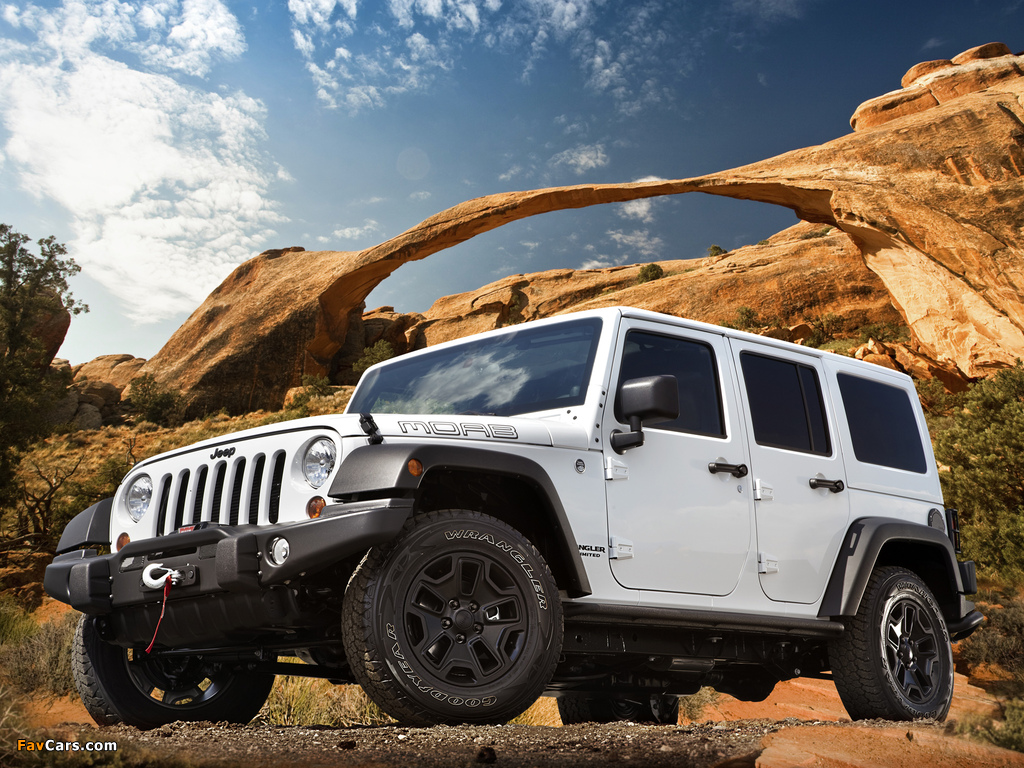 Jeep Wrangler Unlimited Moab (JK) 2012 wallpapers (1024 x 768)