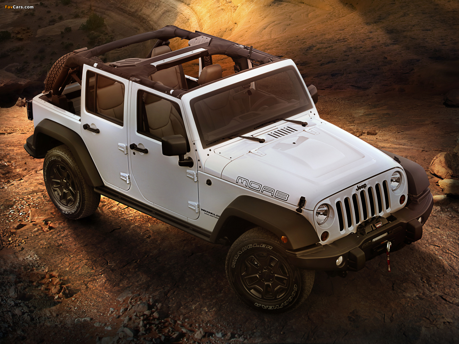Jeep Wrangler Unlimited Moab (JK) 2012 wallpapers (1600 x 1200)
