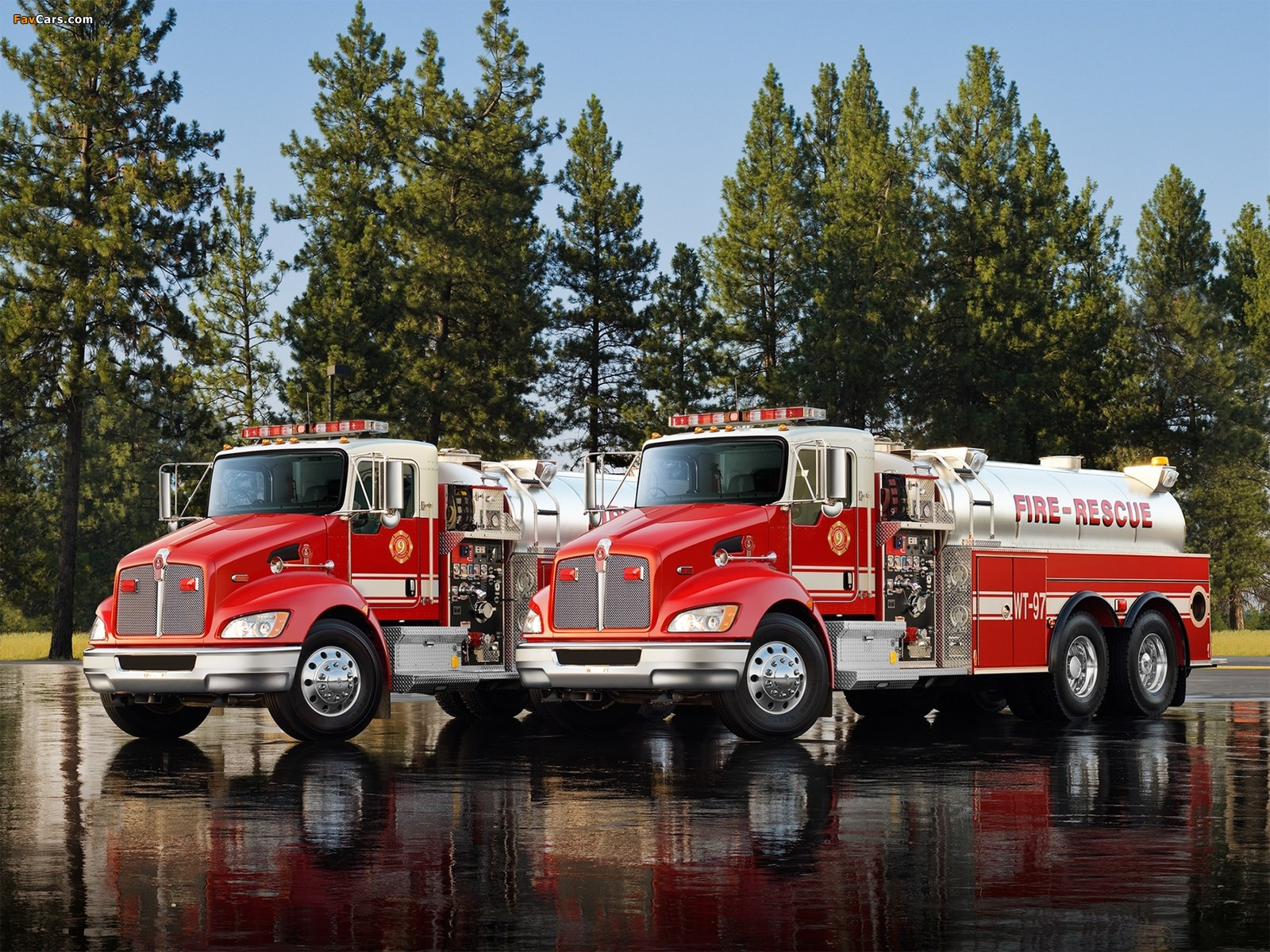 Pictures of Kenworth T370 Firetruck 2009 (1600 x 1200)