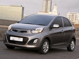 Kia Picanto 5-door ZA-spec (TA) 2011 pictures