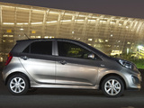 Pictures of Kia Picanto 5-door ZA-spec (TA) 2011