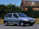 Kia Pride 5-door UK-spec 1991–2000 photos