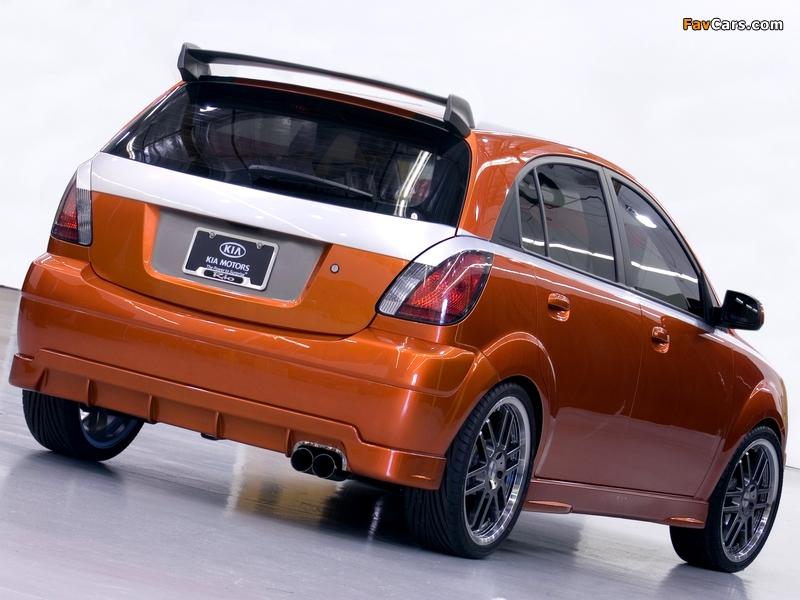 Photos of Kia Rio5 Orange Blur (JB) 2005 (800 x 600)