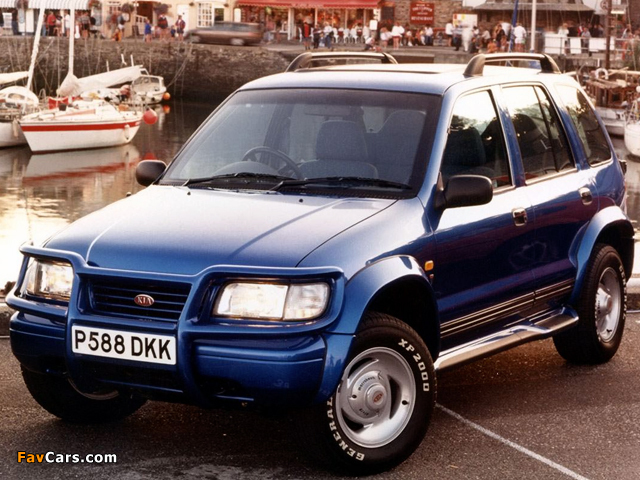 Kia Sportage Karmann Sport SE UK-spec 1996–99 wallpapers (640 x 480)
