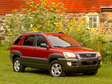 Kia Sportage US-spec (KM) 2004–08 images