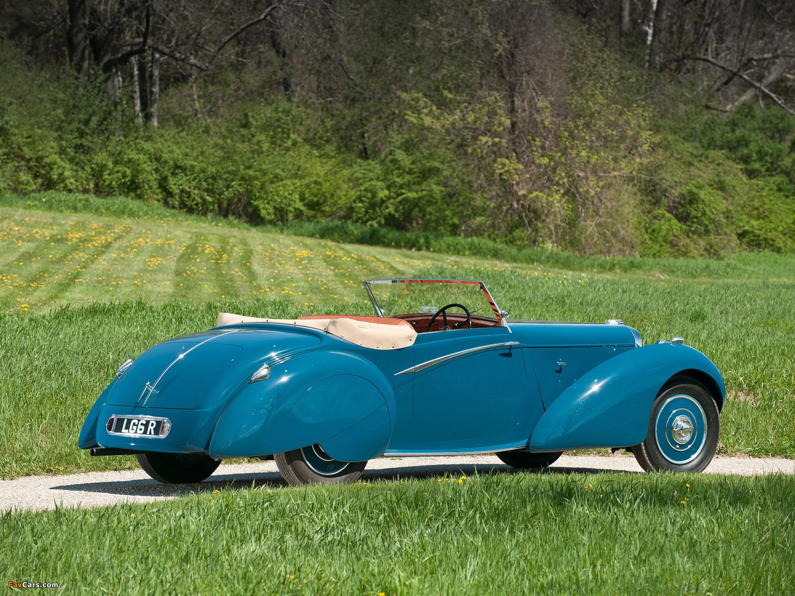 Lagonda LG6 Rapide Drophead Coupe 1938 wallpapers (1600 x 1200)