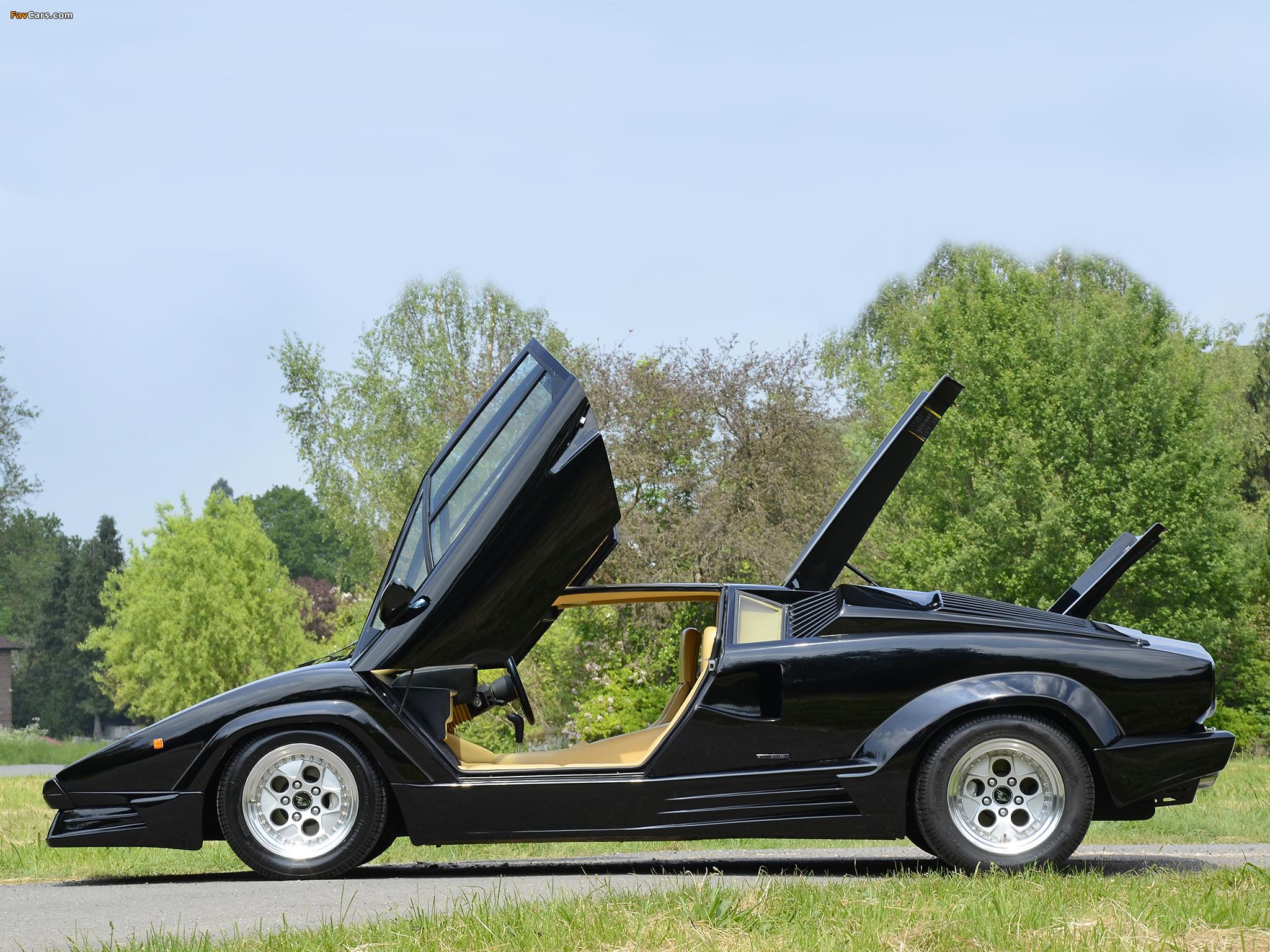 lamborghini_countach_1988_photos_9 Elegant Lamborghini Countach 25th Anniversary Specs Cars Trend