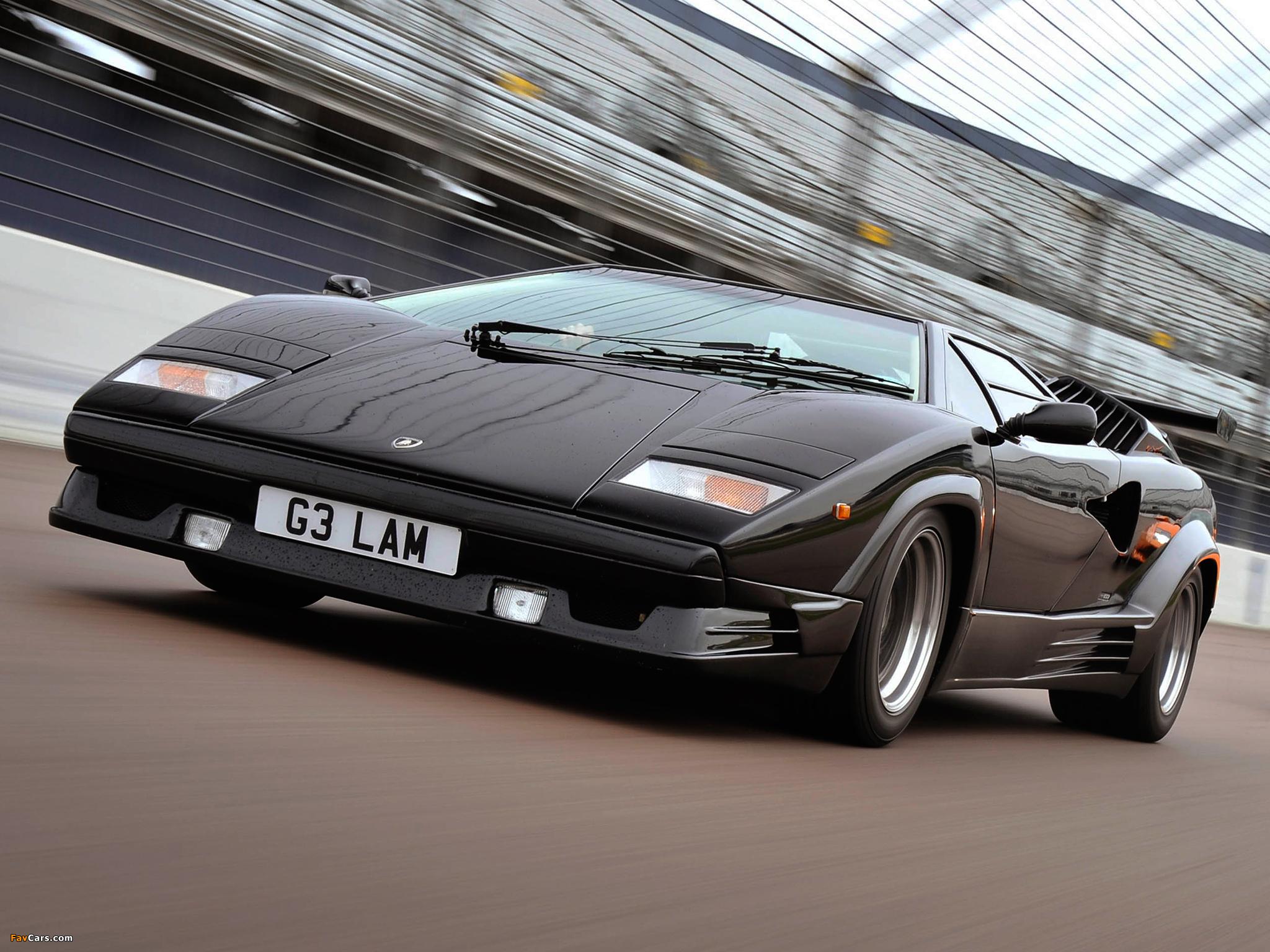 wallpapers_lamborghini_countach_1988_4 Elegant Lamborghini Countach 25th Anniversary Specs Cars Trend