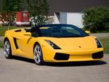Lamborghini Gallardo Spyder US-spec 2006–08 images