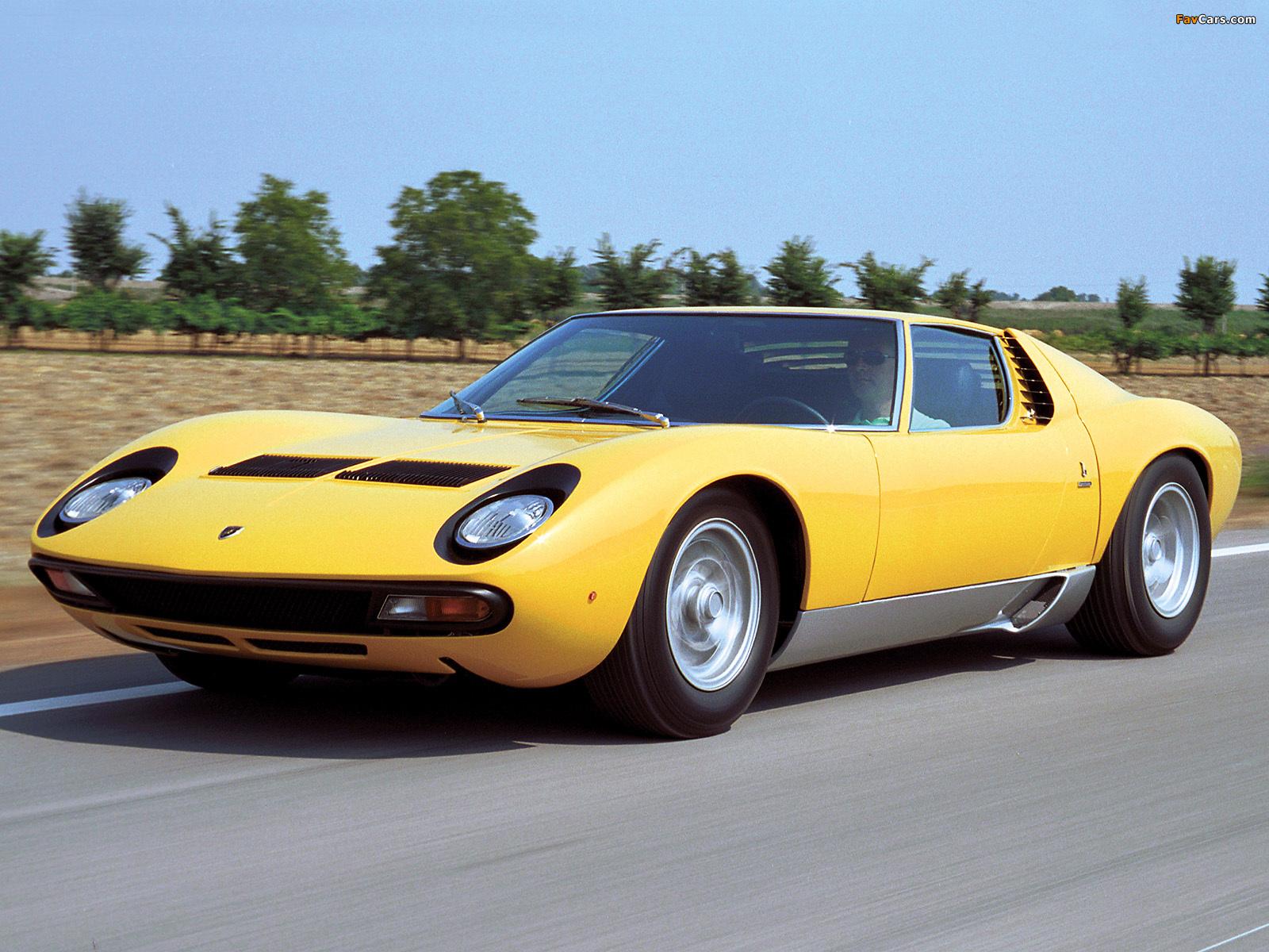 Lamborghini Miura P400 Sv 1971 72 Pictures 1600x1200