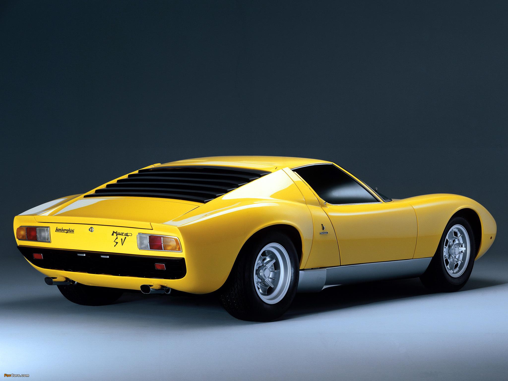 Lamborghini Miura P400 Sv 1971 72 Wallpapers 2048x1536
