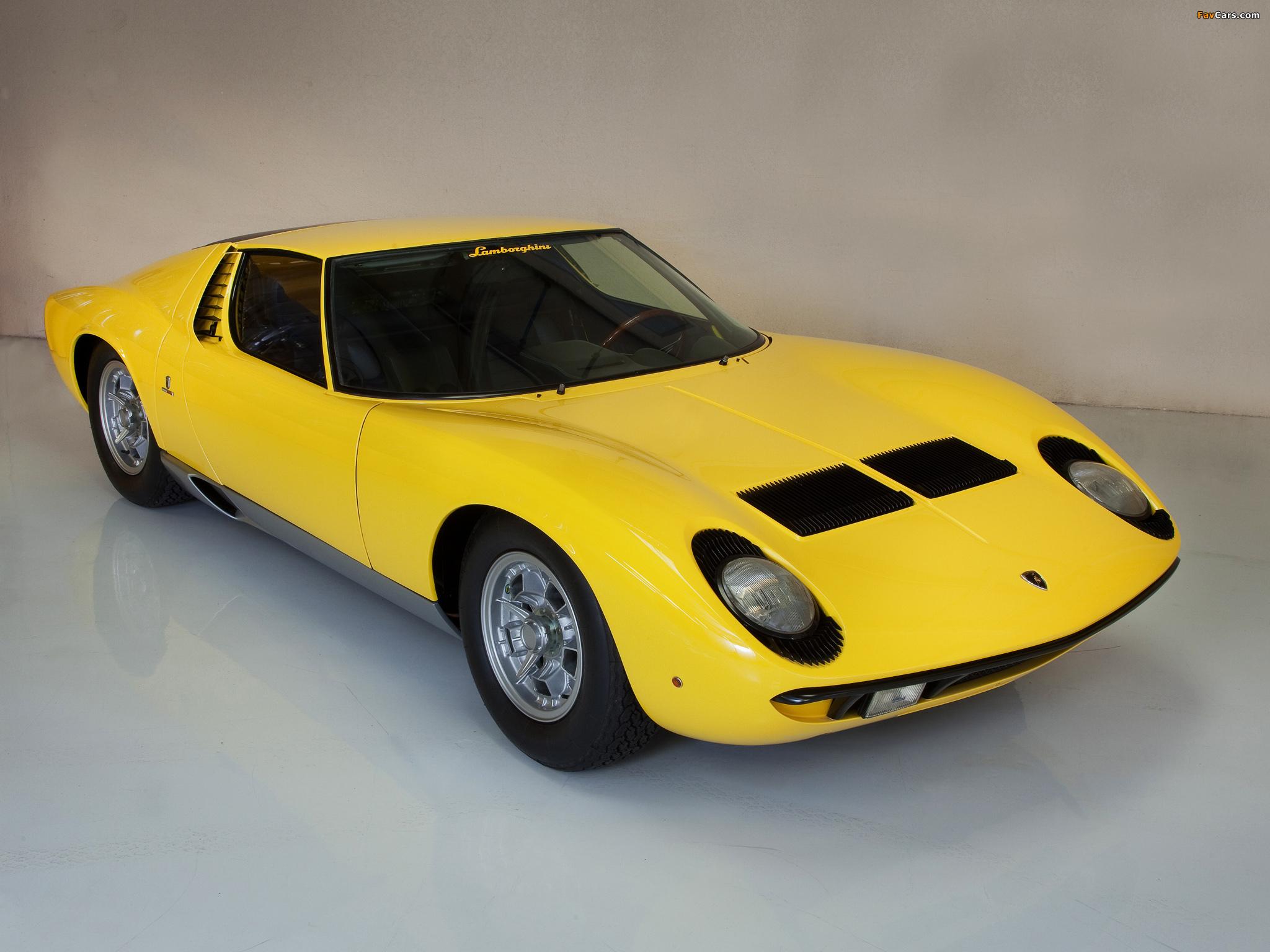 Lamborghini Miura P400 1966 69 Wallpapers 2048x1536
