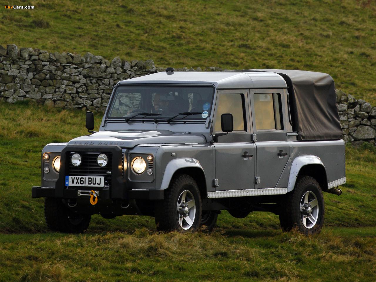 Land Rover Defender 110 >> Land Rover Defender 110 Double Cab Pickup UK-spec 2007 images (1280x960)