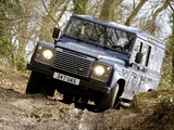 Land Rover Defender 110 Utility Wagon UK-spec 2009 wallpapers