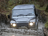 Land Rover Defender 110 Double Cab Pickup UK-spec 2007 wallpapers