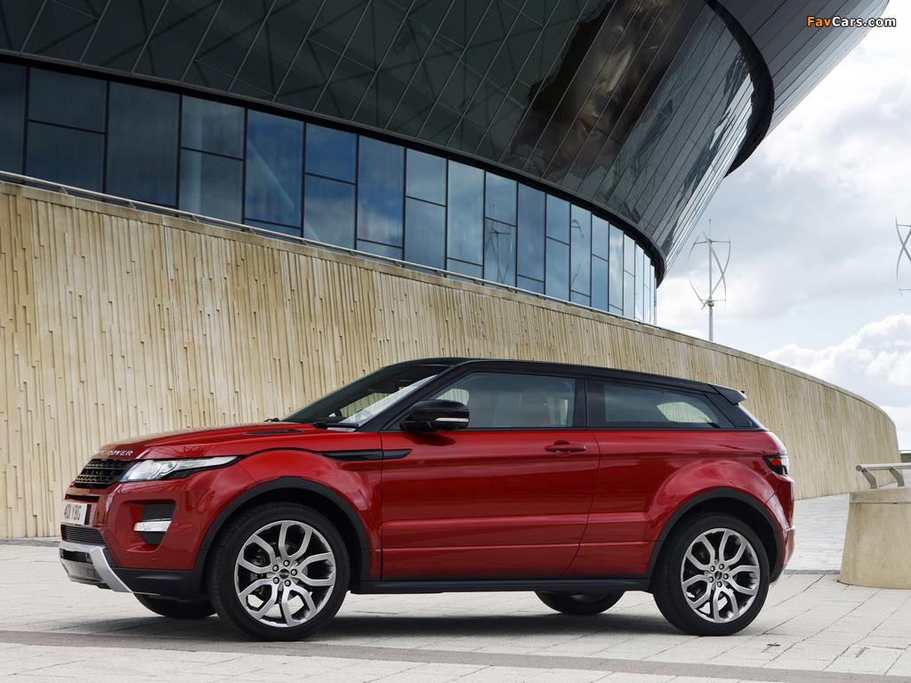 Range Rover Evoque Coupe Si4 Dynamic UK-spec 2011 images (1024 x 768)