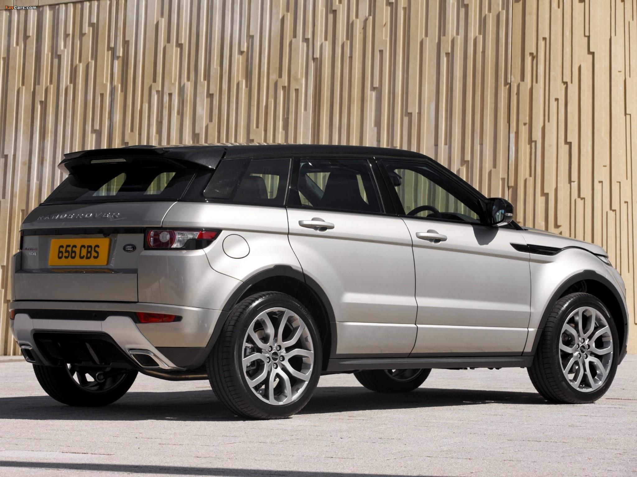 Range Rover Evoque SD4 Dynamic UK-spec 2011 images (2048 x 1536)