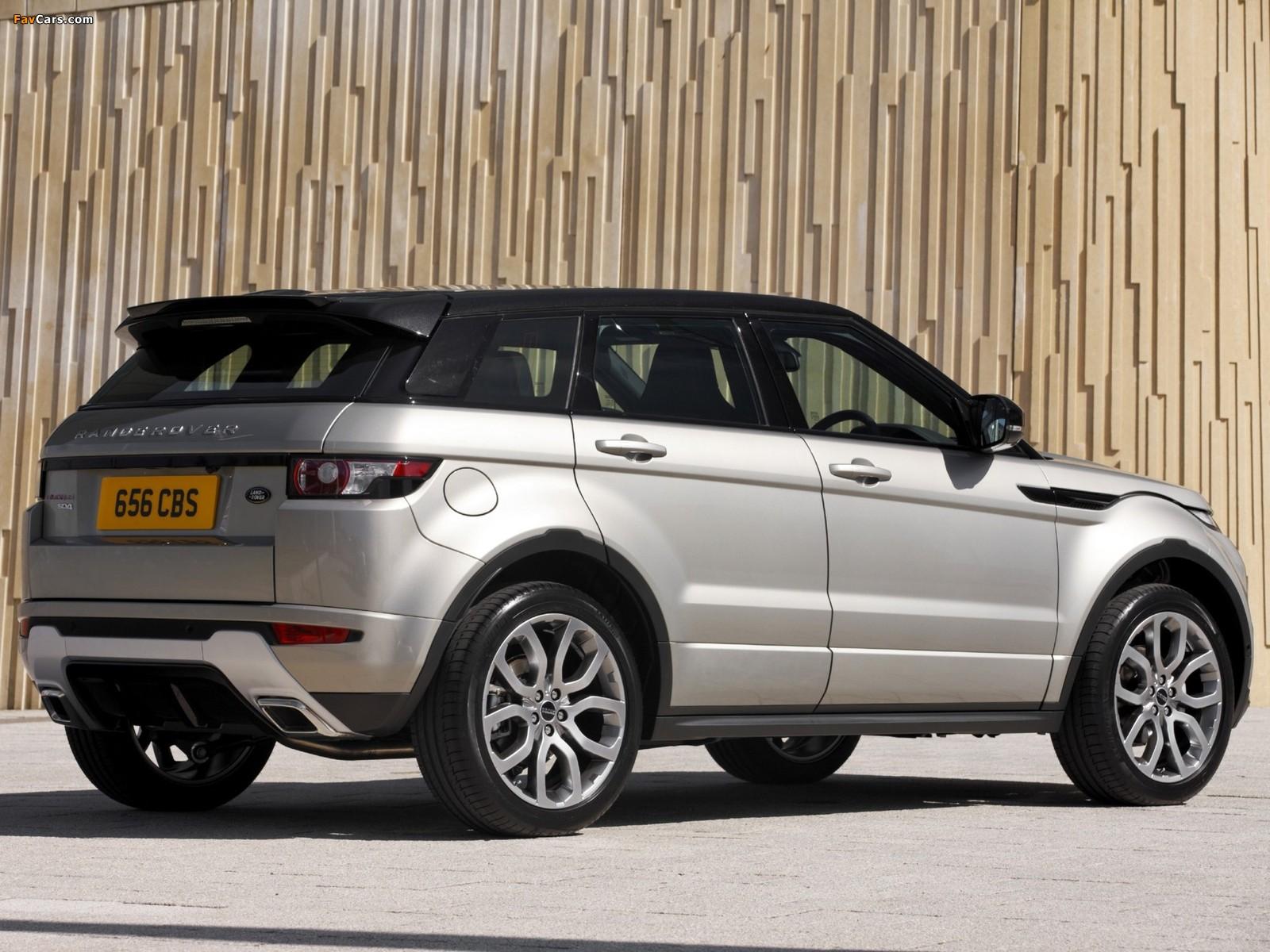 Range Rover Evoque SD4 Dynamic UK-spec 2011 images (1600 x 1200)