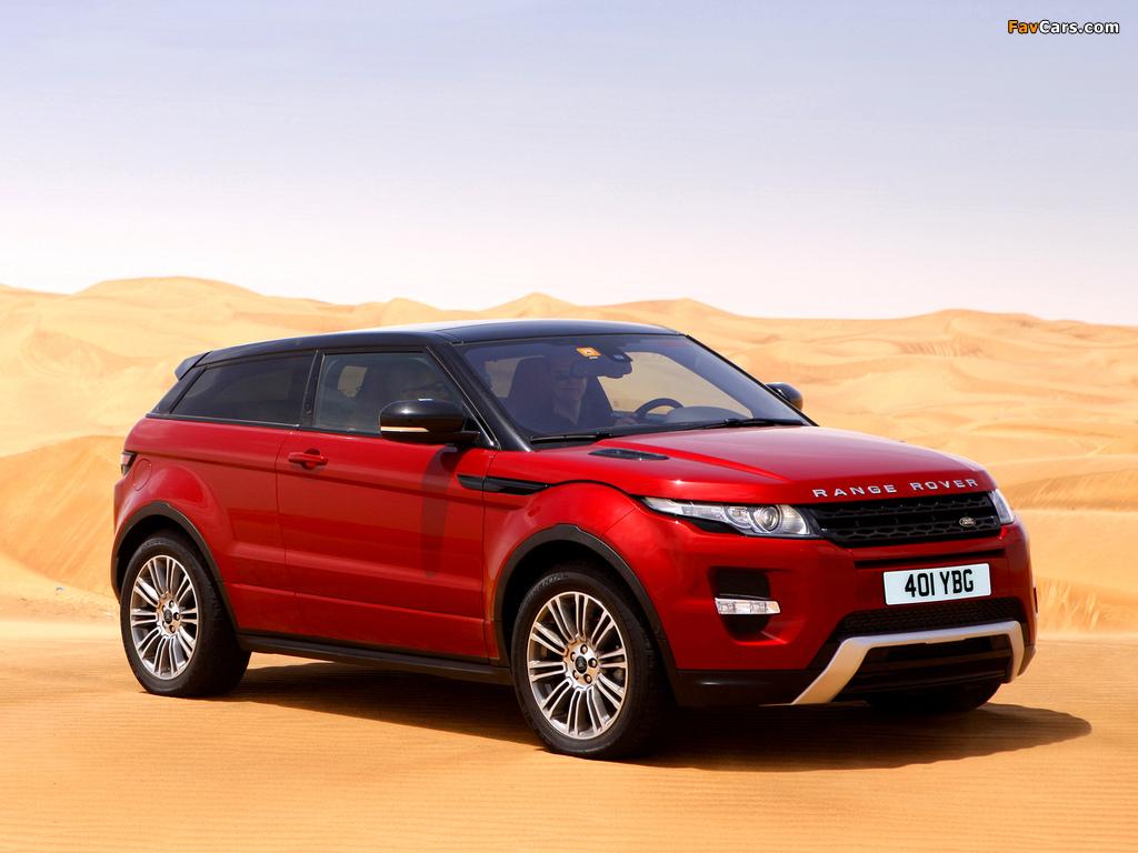 Range Rover Evoque Coupe Si4 Dynamic UK-spec 2011 photos (1024 x 768)