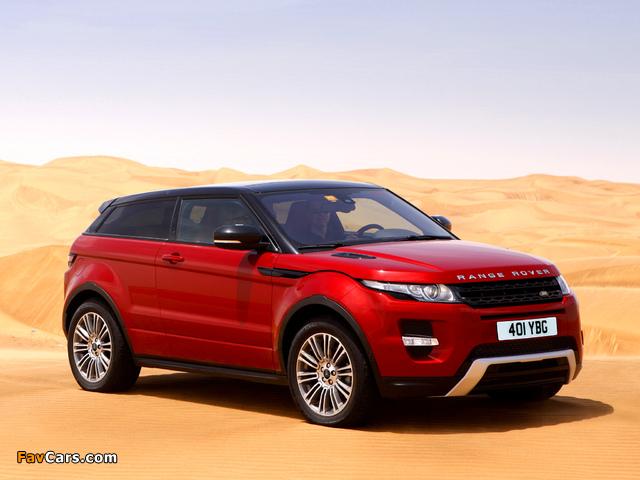 Range Rover Evoque Coupe Si4 Dynamic UK-spec 2011 photos (640 x 480)