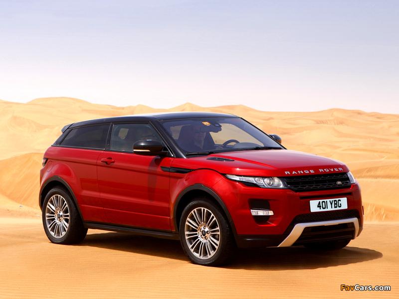 Range Rover Evoque Coupe Si4 Dynamic UK-spec 2011 photos (800 x 600)