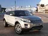 Range Rover Evoque Coupe Prestige AU-spec 2011 pictures