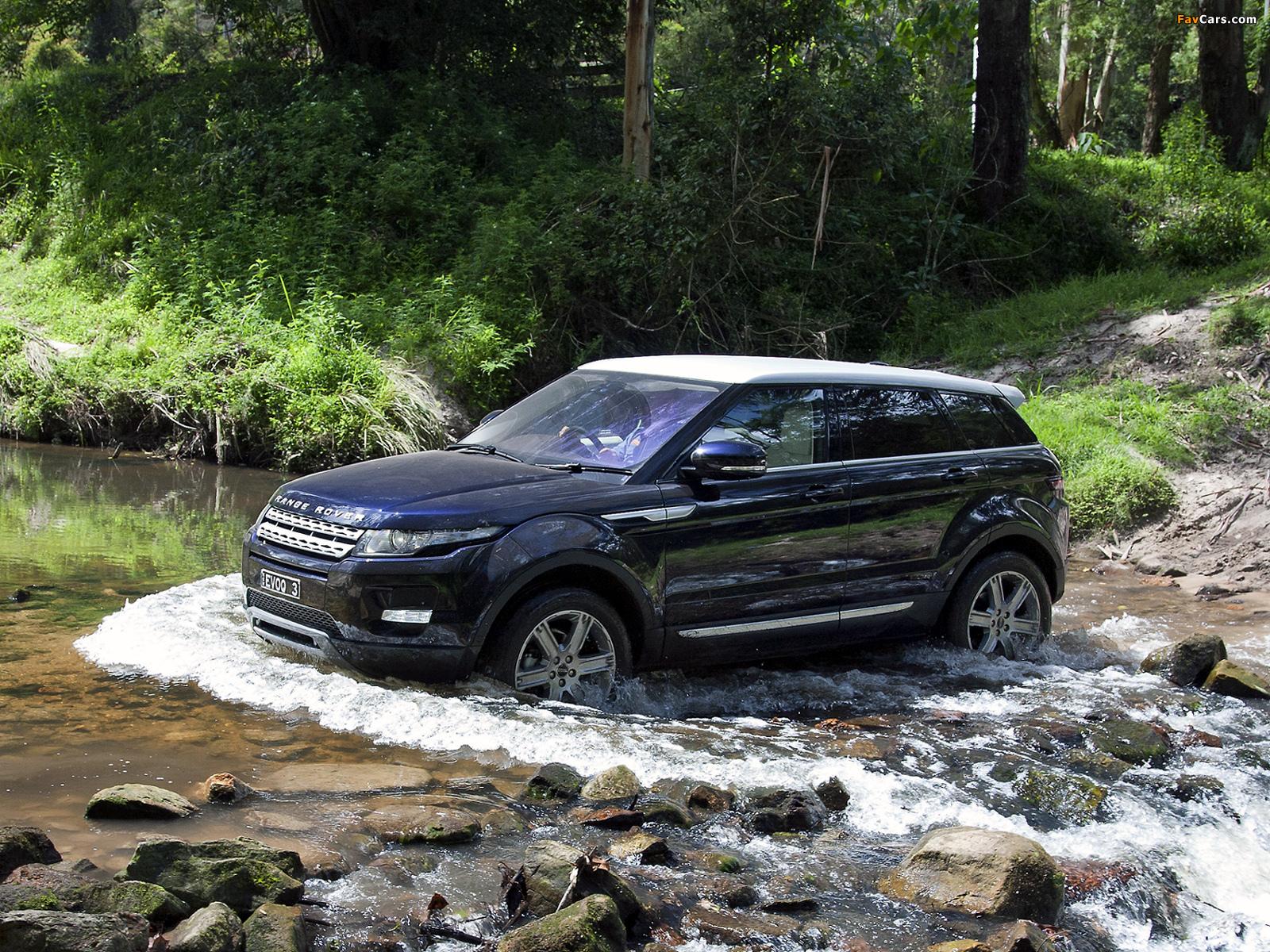 Range Rover Evoque Prestige AU-spec 2011 pictures (1600 x 1200)