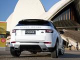 Photos of Range Rover Evoque Coupe Dynamic AU-spec 2011
