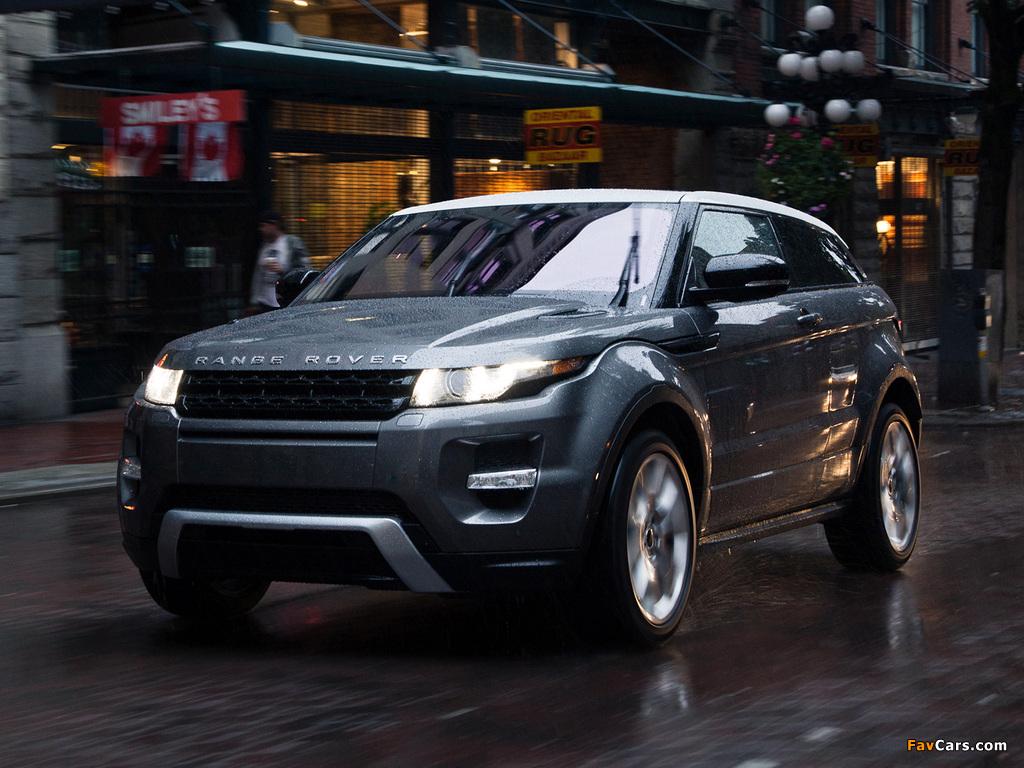 Photos of Range Rover Evoque Coupe Dynamic US-spec 2011 (1024 x 768)