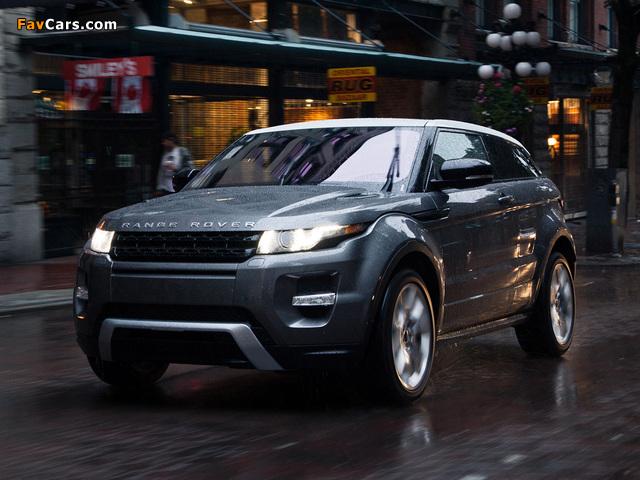 Photos of Range Rover Evoque Coupe Dynamic US-spec 2011 (640 x 480)