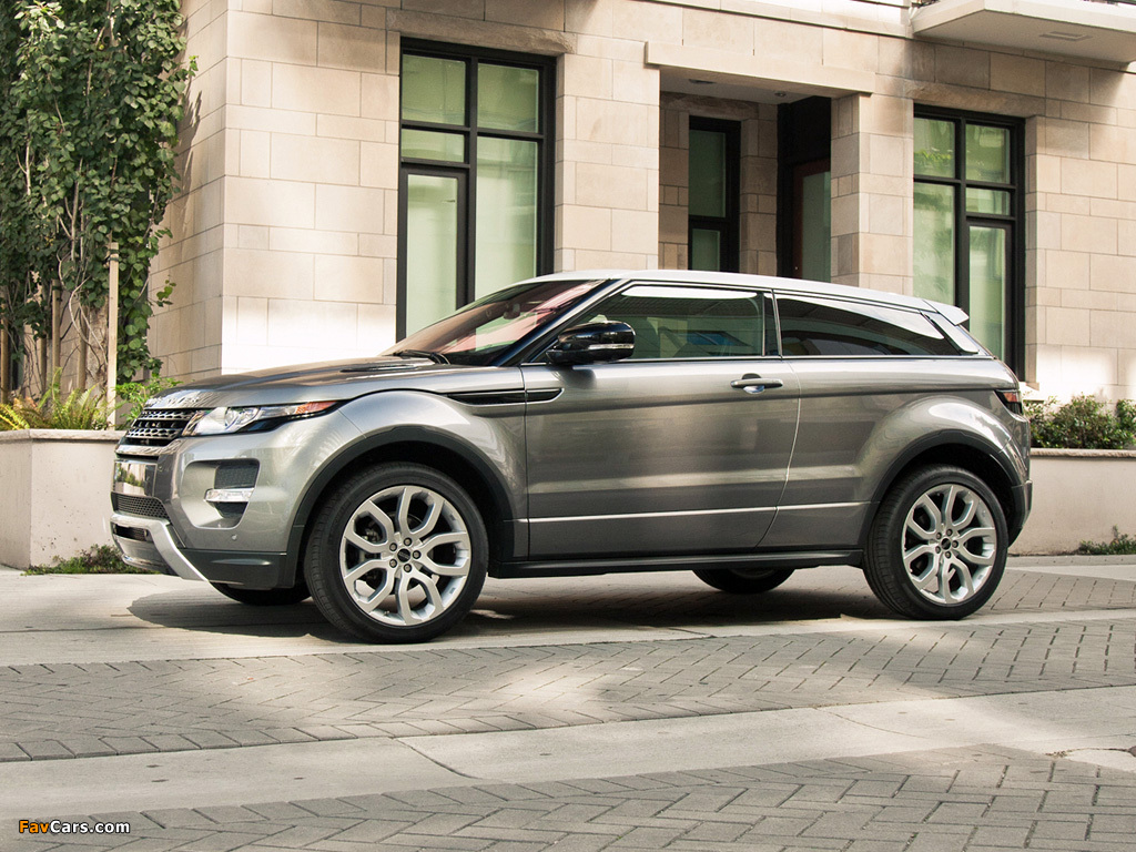 Pictures of Range Rover Evoque Coupe Dynamic US-spec 2011 (1024 x 768)
