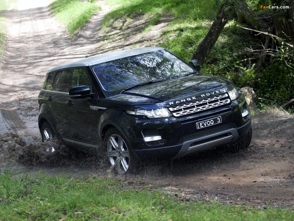Pictures of Range Rover Evoque Prestige AU-spec 2011 (1024 x 768)