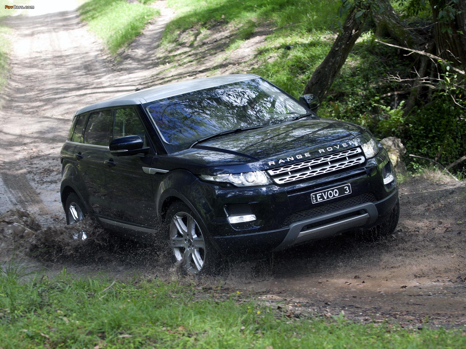 Pictures of Range Rover Evoque Prestige AU-spec 2011 (1600 x 1200)