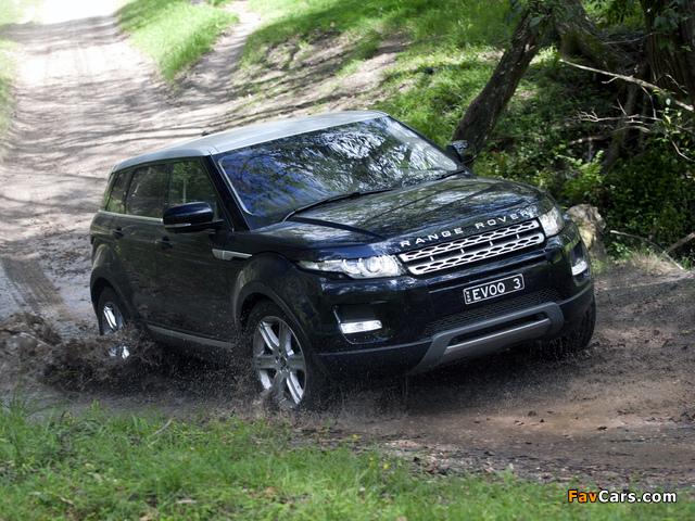 Pictures of Range Rover Evoque Prestige AU-spec 2011 (640 x 480)