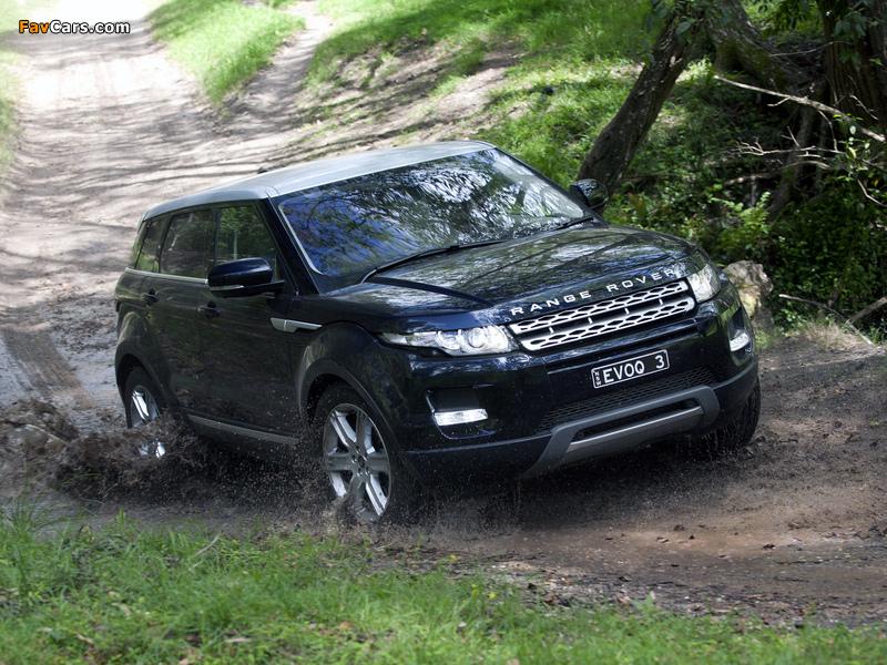 Pictures of Range Rover Evoque Prestige AU-spec 2011 (800 x 600)