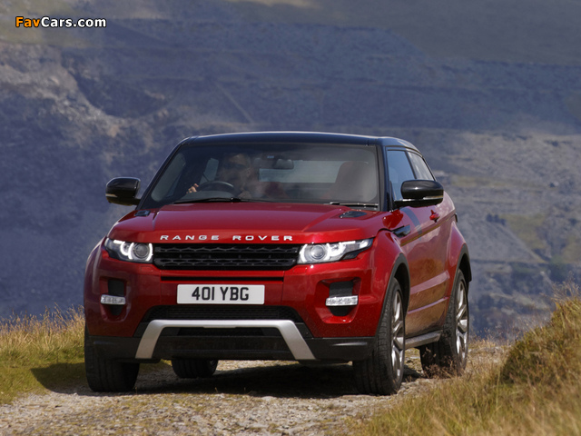 Range Rover Evoque Coupe Si4 Dynamic UK-spec 2011 wallpapers (640 x 480)