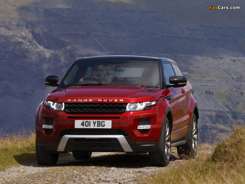 Range Rover Evoque Coupe Si4 Dynamic UK-spec 2011 wallpapers (800 x 600)