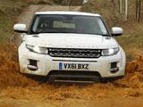 Range Rover Evoque Coupe eD4 Prestige UK-spec 2012 wallpapers