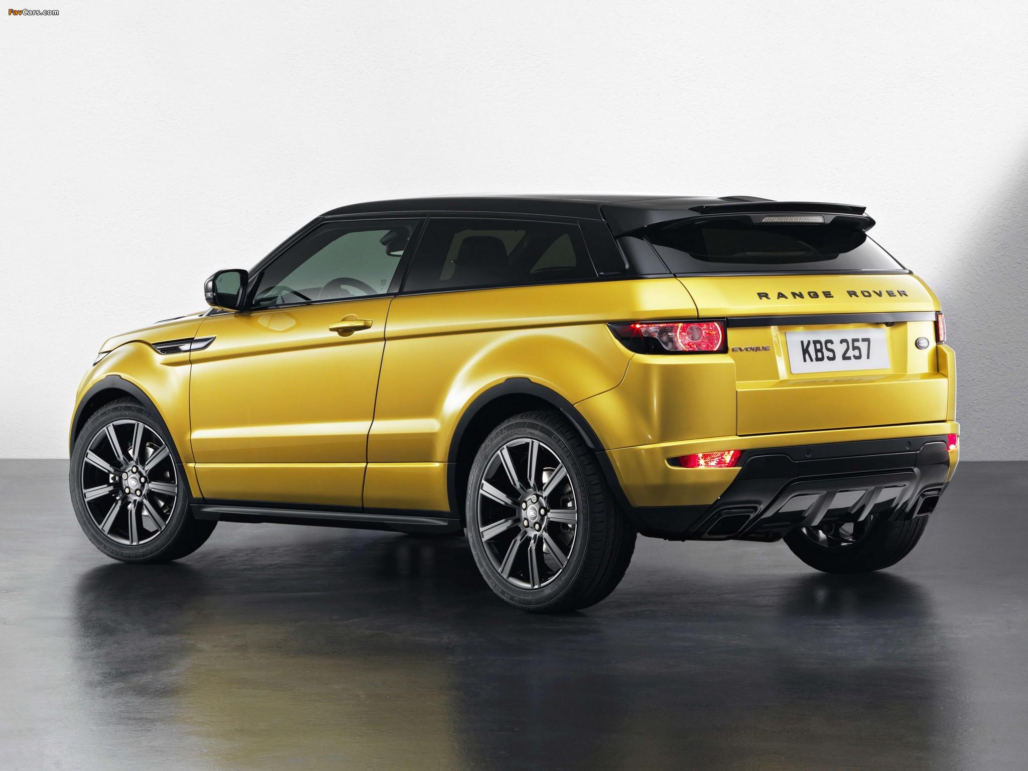 Range Rover Evoque Coupe Sicilian Yellow 2013 wallpapers (2048 x 1536)