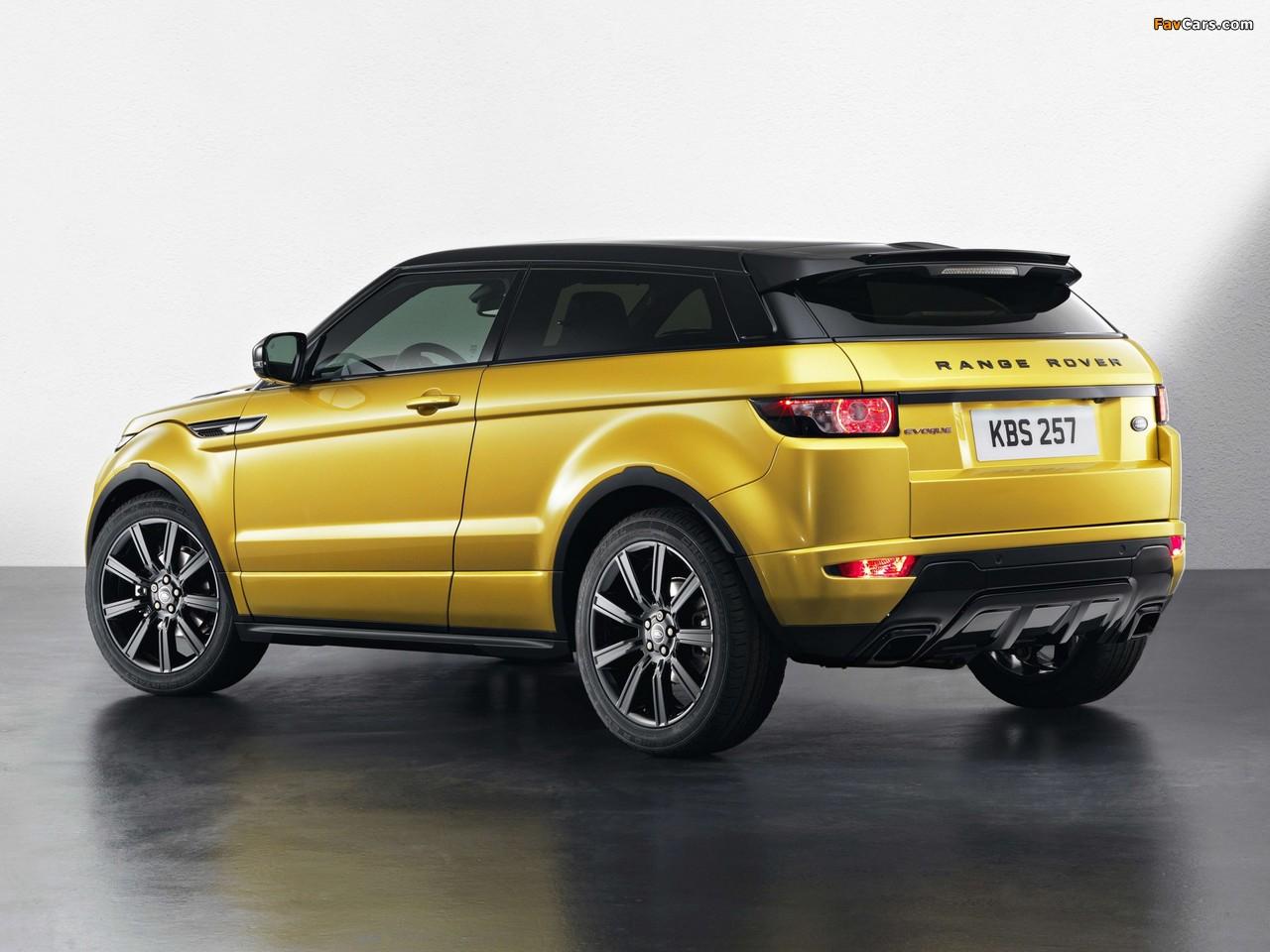 Range Rover Evoque Coupe Sicilian Yellow 2013 wallpapers (1280 x 960)