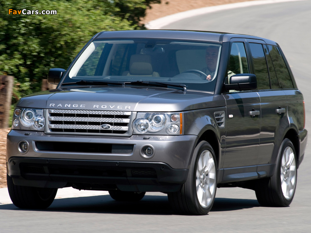 Images of Range Rover Sport Supercharged US-spec 2008–09 (640 x 480)